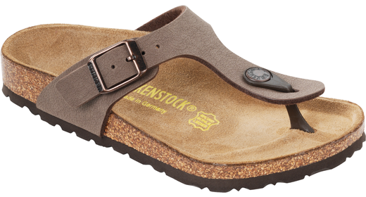 Birkenstock Birkenstock Gizeh kids nubuck mocca for normal feet