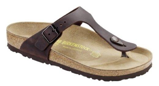 Birkenstock Birkenstock Gizeh habana geolied leer voor normale voet