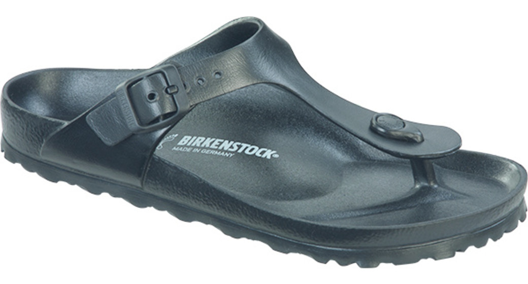Birkenstock Gizeh eva beach sandal black for normal feet