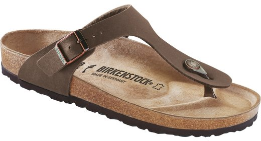 Birkenstock Birkenstock Gizeh nubuck mokka voor normale voet