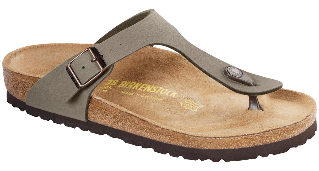 Birkenstock Gizeh nubuck stone voor normale voet