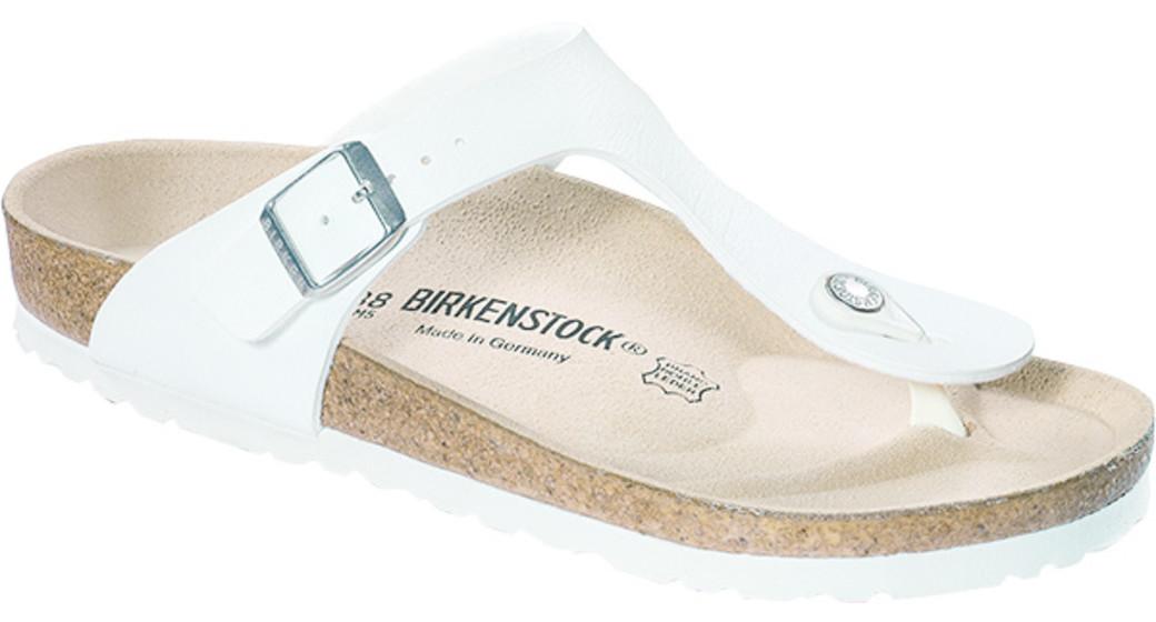 Birkenstock Gizeh white for normal feet