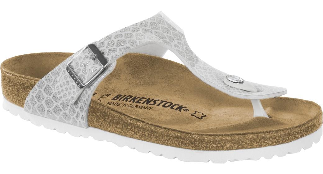 Birkenstock Gizeh magic snake white for normal feet