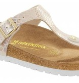 Birkenstock Birkenstock Gizeh shiny snake cream for normal feet