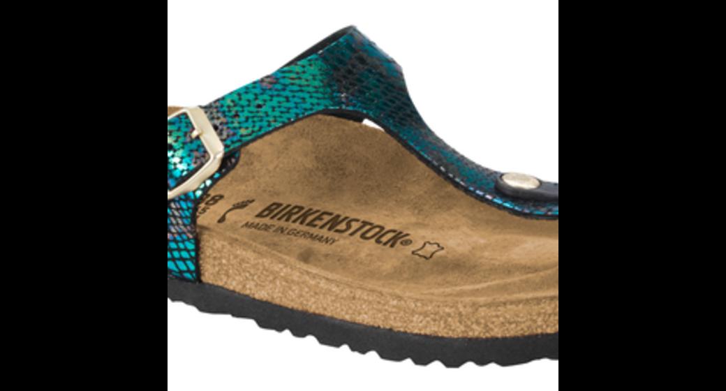Birkenstock Gizeh snake black multi for normal feet