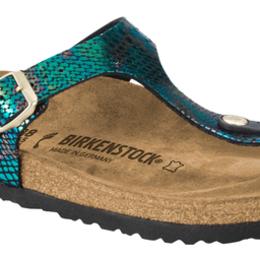 Birkenstock Gizeh snake black multi voor normale voet