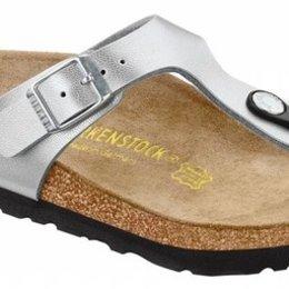 Birkenstock Gizeh kids zilver voor normale voet