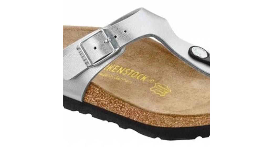 Birkenstock Gizeh zilver voor normale voet