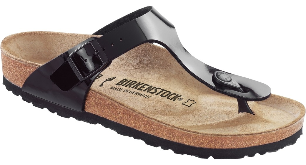Birkenstock Gizeh black patent for normal feet