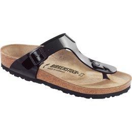 Birkenstock Gizeh zwart lak voor normale voet