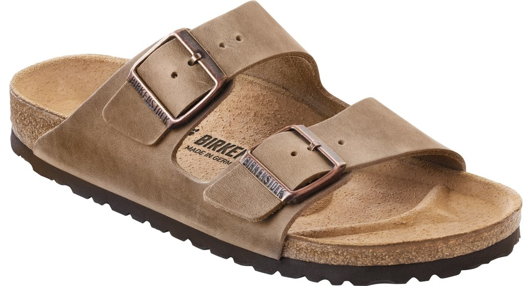Birkenstock Arizona tabacco brown oiled leather  normal feet
