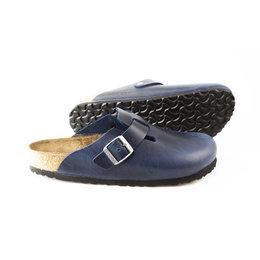 Birkenstock Boston Blue narrow Fettleder Oiled Leather- soft footbed