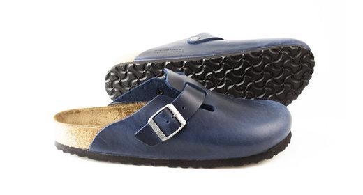 Birkenstock Boston Blue regular Fettleder Oiled Leather -soft footbed