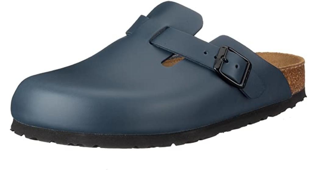 Birkenstock Boston Bleu Leather soft footbed