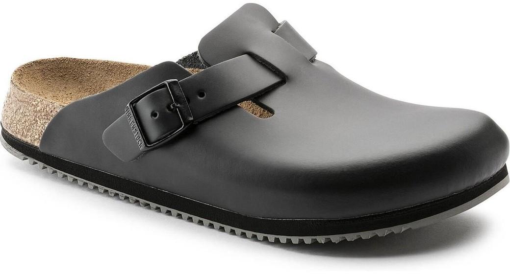 Birkenstock professional Boston Black regular Leather, with special non-slip sole
