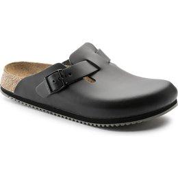 Birkenstock professional Boston zwart leer anti slip zool voor brede voet