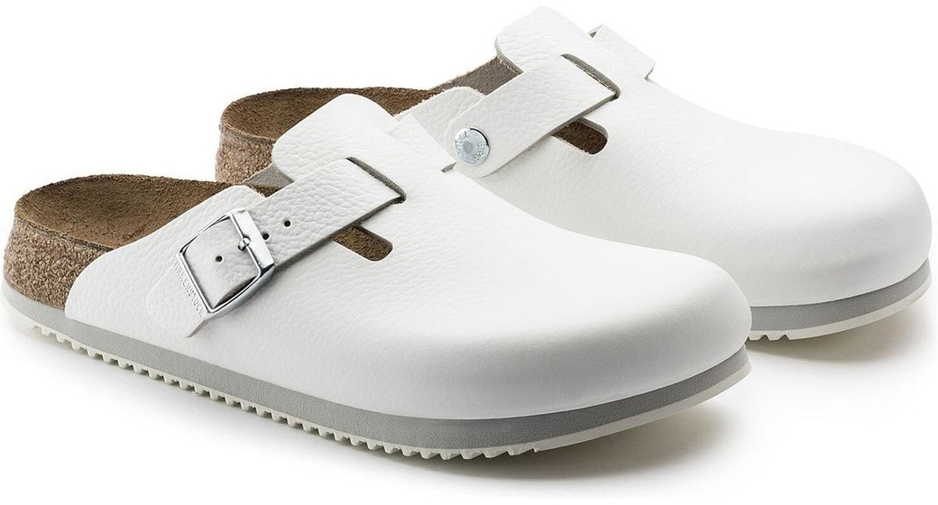 Birkenstock pr Boston White regular Natural Leather