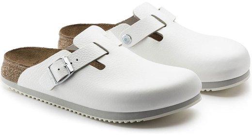 Birkenstock professional Boston wit leer anti slip zool voor brede voet
