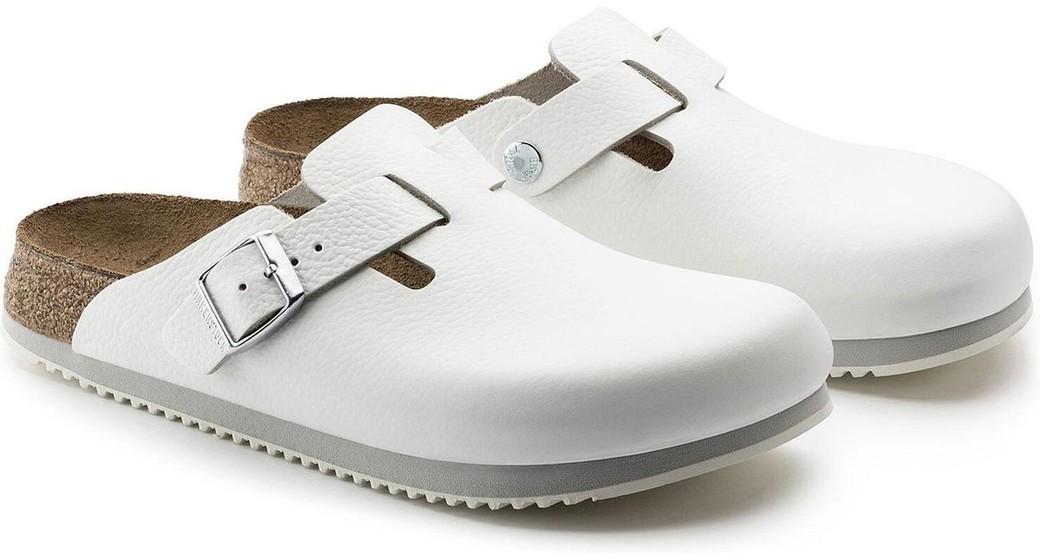Birkenstock professional Boston wit leer anti slip zool voor normale voet