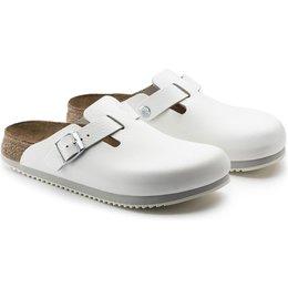 Birkenstock professional Boston white narrow Leather, with special non-slip sole