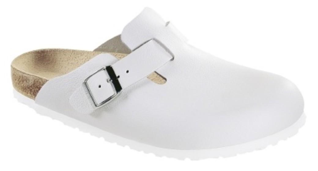 Birkenstock cl Boston White narrow Smooth Leather