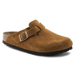Birkenstock Boston suede leather mink soft footbed