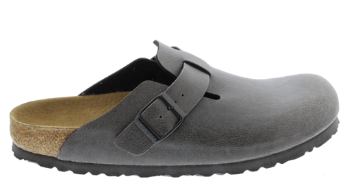 Birkenstock Birkenstock Boston vegan anthracite for wide feet