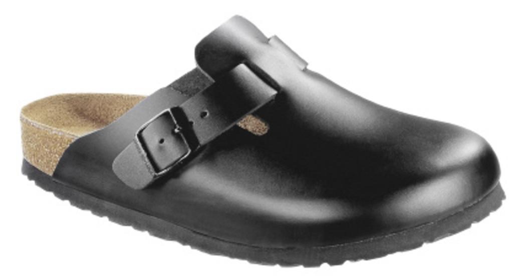 Birkenstock Boston black leather soft footbed for wide feet