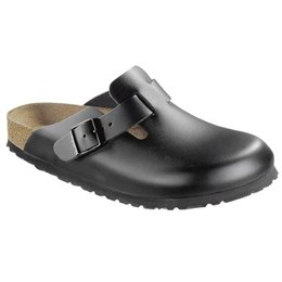 Birkenstock Boston black leather for wide feet