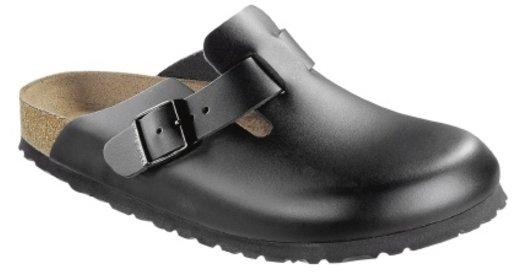 Birkenstock Birkenstock Boston zwart leer voor brede voet