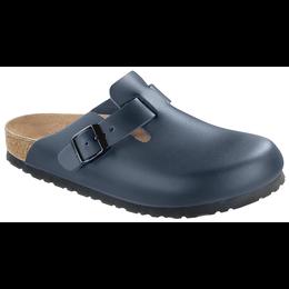 Birkenstock Boston blauw leer voor normale voet
