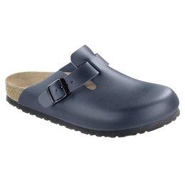 Birkenstock Boston blue leather for wide feet