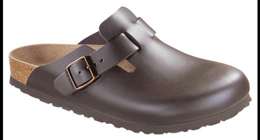 Birkenstock Birkenstock Boston dark brown leather for normal feet