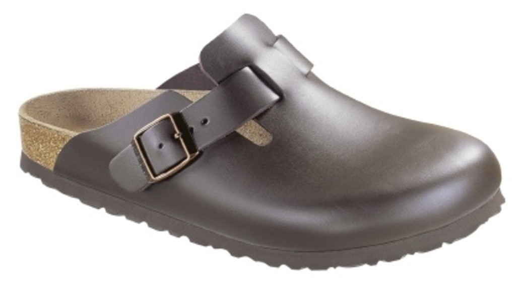 Birkenstock Boston dark brown leather for wide feet