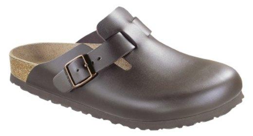 Birkenstock Birkenstock Boston dark brown leather for wide feet