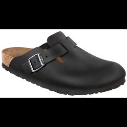 Birkenstock Boston geolied zwart leer voor normale voet