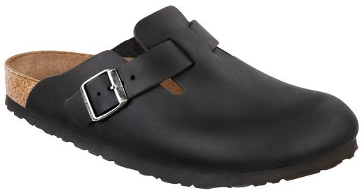 Birkenstock Birkenstock Boston geolied zwart leer voor normale voet