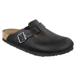 Birkenstock Boston geolied zwart leer voor brede voet