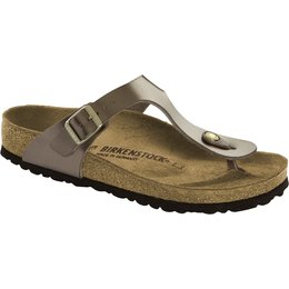 Birkenstock Gizeh electric metallic taupe for normal feet