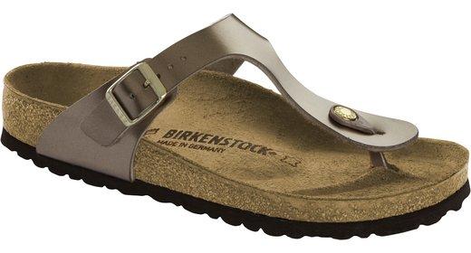 Birkenstock Birkenstock Gizeh leer electric metallic taupe voor normale voet