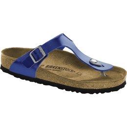 Birkenstock Gizeh electric metallic ocean for normal feet