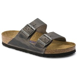 Birkenstock Arizona Iron leather soft footbed for normal feet