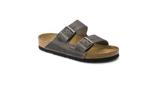 Birkenstock Birkenstock Arizona Iron leather soft footbed for normal feet