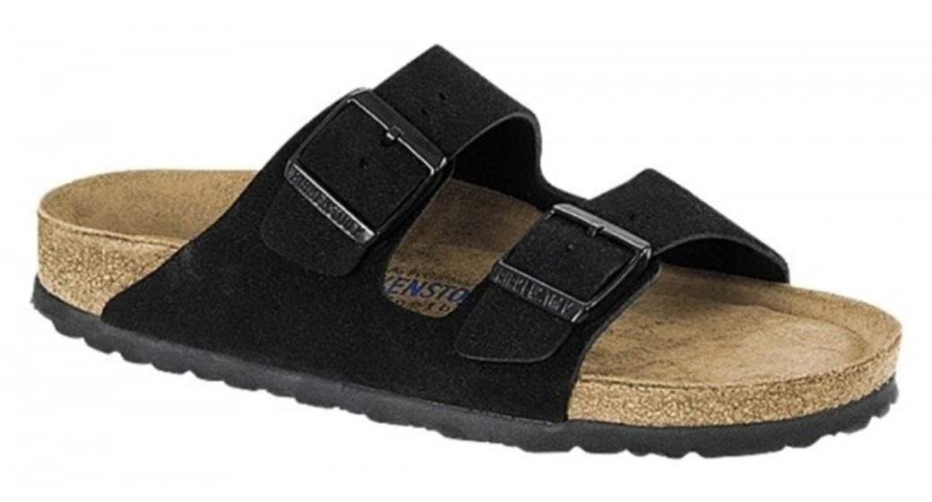 Birkenstock Arizona zwart suède leer zacht voetbed voor normale voet