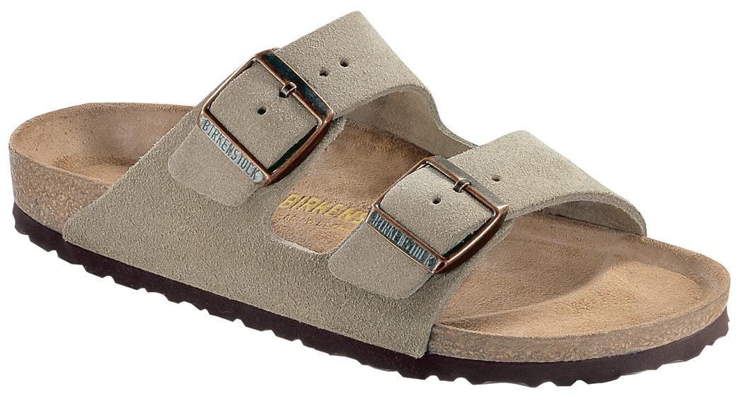 Birkenstock Arizona Taupe suede for normal feet