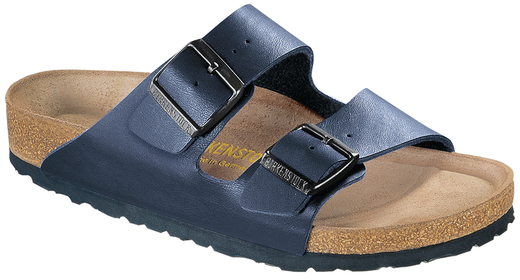 Birkenstock Birkenstock Arizona blauw met zacht voetbed voor brede voet