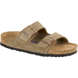 Birkenstock Arizona suede leather taupe soft footbed for normal feet