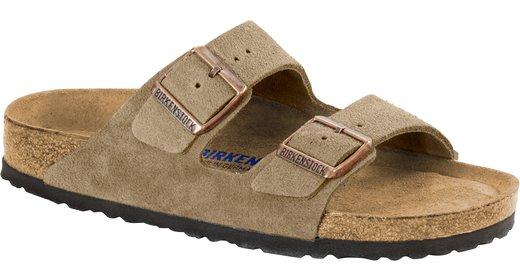 Birkenstock Birkenstock Arizona suède leer taupe zacht voetbed voor normale voet