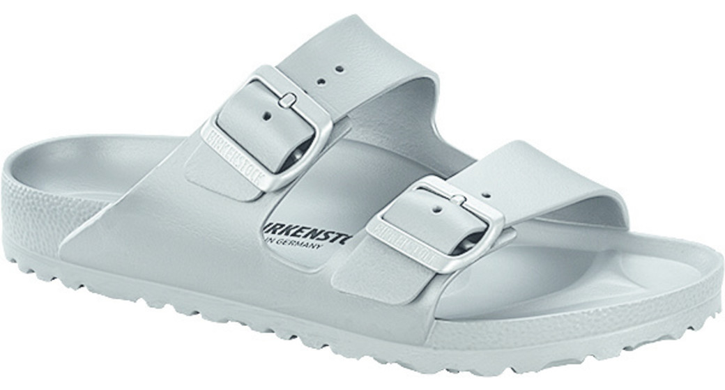 Birkenstock Arizona eva metallic silver for wide feet