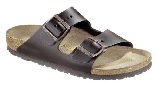 Birkenstock Birkenstock Arizona dark brown leather for wide feet